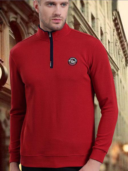 皇卡男装2019新款红色 保暖长袖 商务成熟
