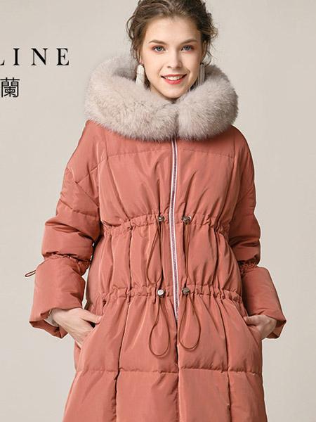 沐兰 - MORELINE女装品牌2019秋冬毛领羽绒服