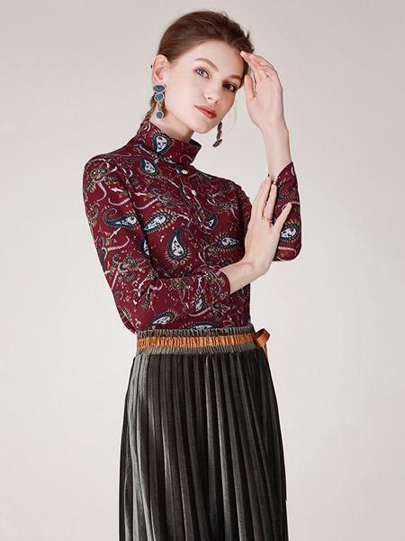 沐兰 - MORELINE女装品牌2019秋冬高领上衣