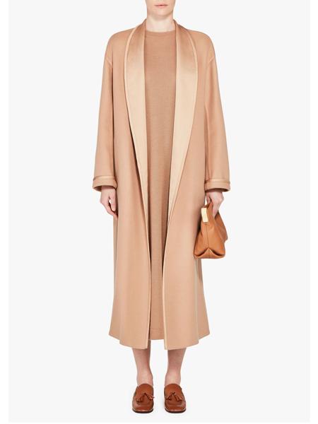 Loro Piana国际品牌丝绸时尚大衣