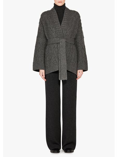 Loro Piana国际品牌收腰开衫针织外套