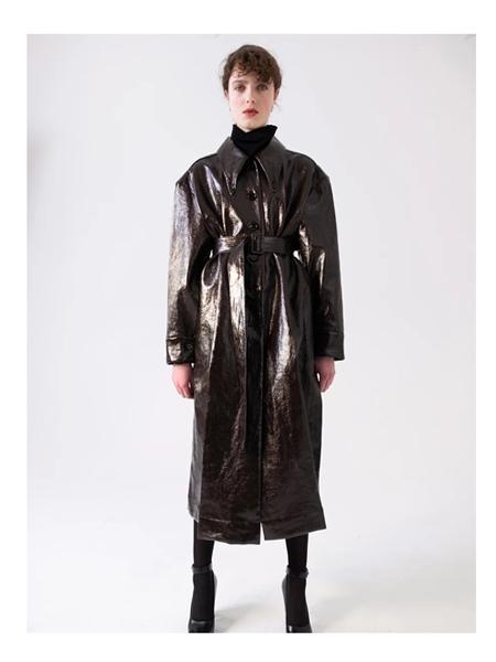 Lemaire国际品牌品牌休闲长款皮夹克