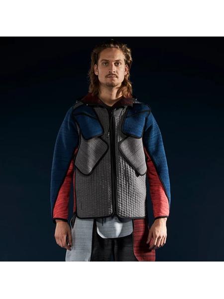 BYBORRE国际品牌品牌2019秋冬拼接色保暖外套