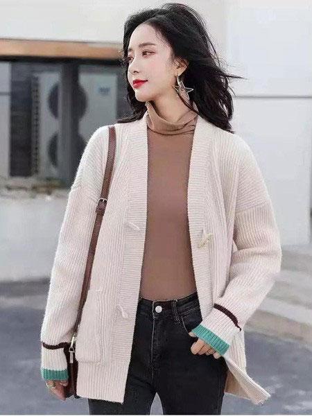 buda-peis布达佩斯女装品牌2019秋冬韩版毛呢外套长袖