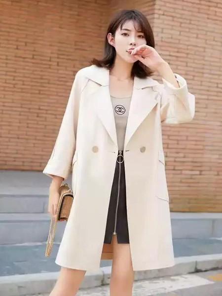 buda-peis布达佩斯女装品牌2019秋冬韩版中长款大衣