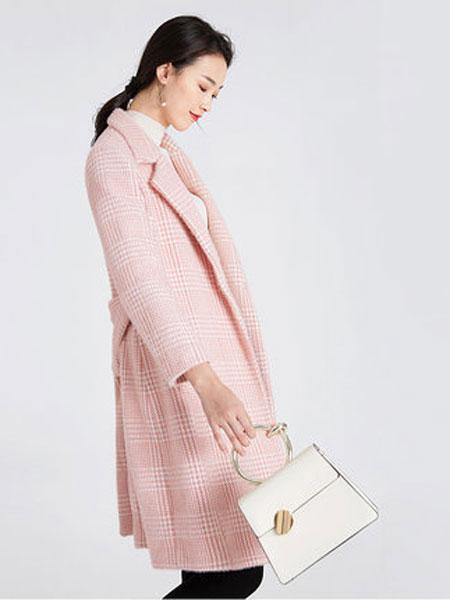 阔太小香风冬季粉色休闲职业呢子大衣女中长款妈妈收腰外套不起球