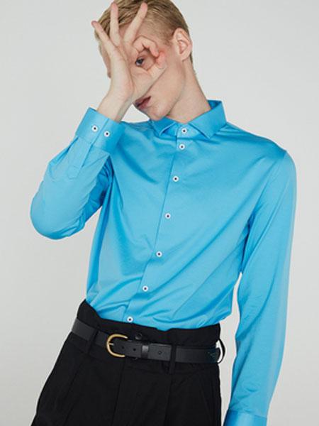 微奢零度男装品牌2019秋冬摩登系列-商务舒适版长袖宝蓝色