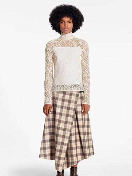 路易威登国际品牌品牌2019秋冬新款格子裙子套装