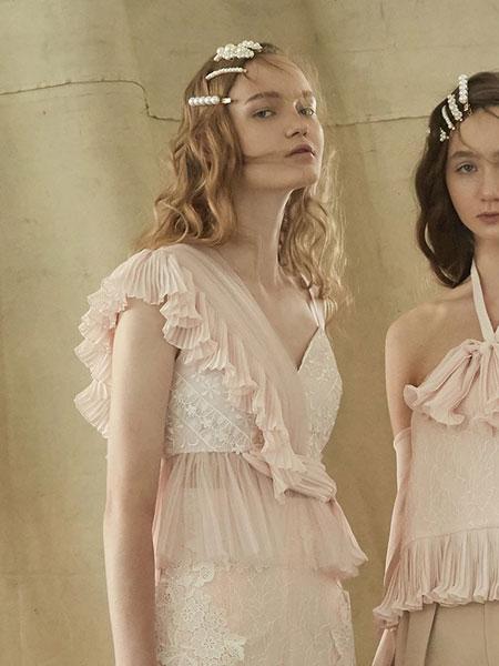 Thea By Thara国际品牌品牌2020春夏v领蕾丝半身裙