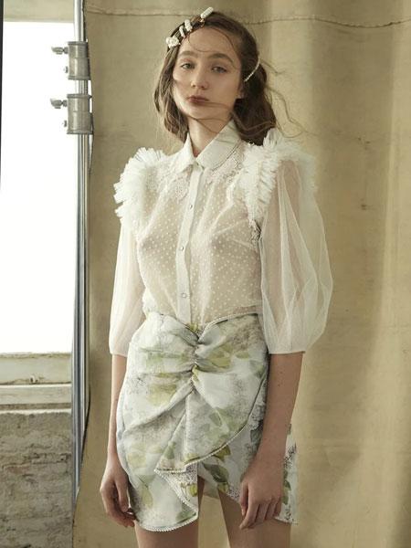 Thea By Thara国际品牌品牌2020春夏透明蕾丝衬衫