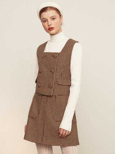 mgmg studio国际品牌品牌2019秋冬纯色裙子套装