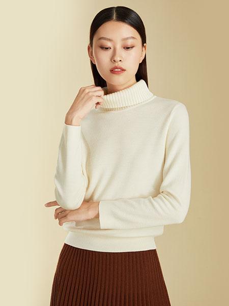维格娜丝女装品牌2019秋冬高领针织衫