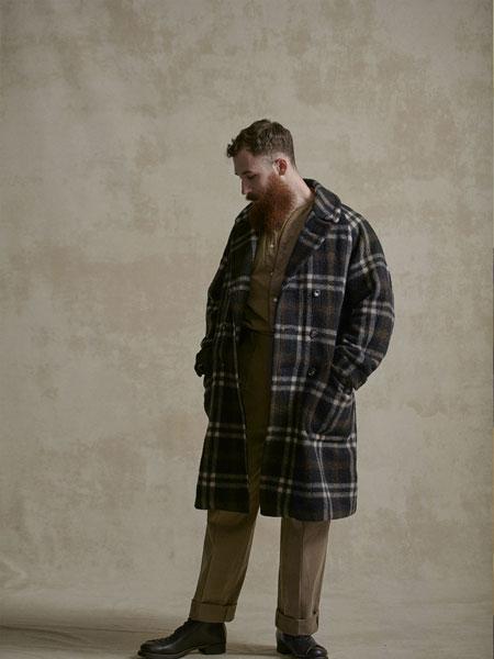 OLD JOE���H品牌品牌2019秋冬新款格子大衣