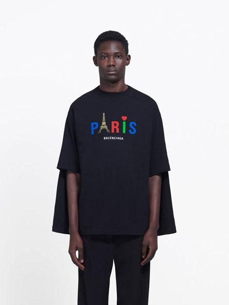 Balenciaga巴黎世家国际品牌品牌2020春夏新款经典印花上衣