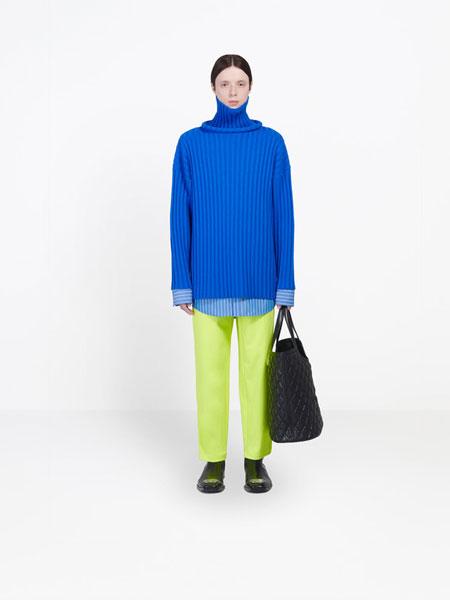 Balenciaga巴黎世家国际品牌品牌2020春夏新款西装裤子 荧光绿