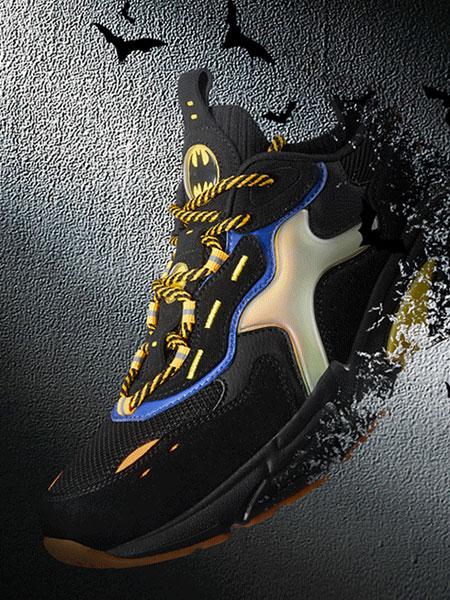 特步(中国)有限公司国际品牌品牌2019秋冬男子休闲鞋 老爹鞋2019新款蝙蝠侠联名袜套跑鞋