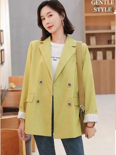 左韩女装品牌2019秋冬新款长款外套