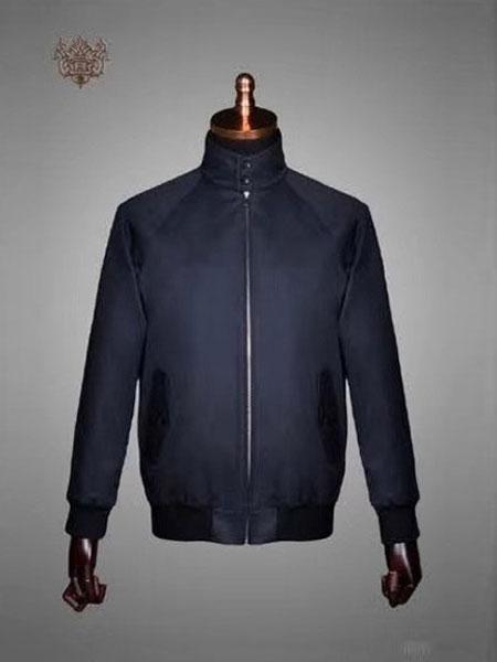 XUANPRIVE服装定制品牌2019秋冬新款高领西装外套
