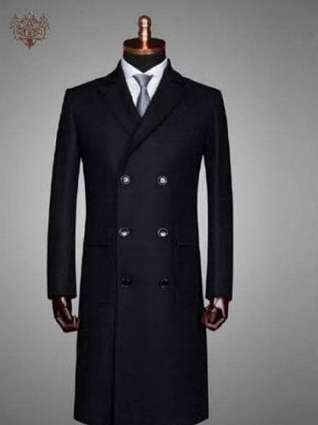 XUANPRIVE服装定制品牌2019秋冬新款长袖长款西装大衣
