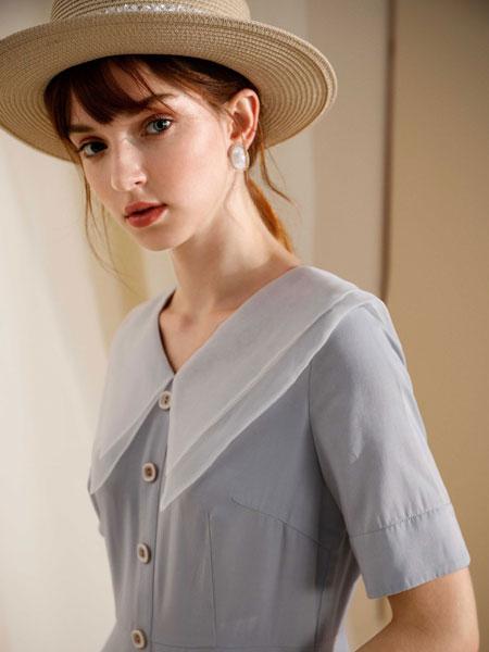 MOANLUO女装品牌2020春夏娃娃领裙子