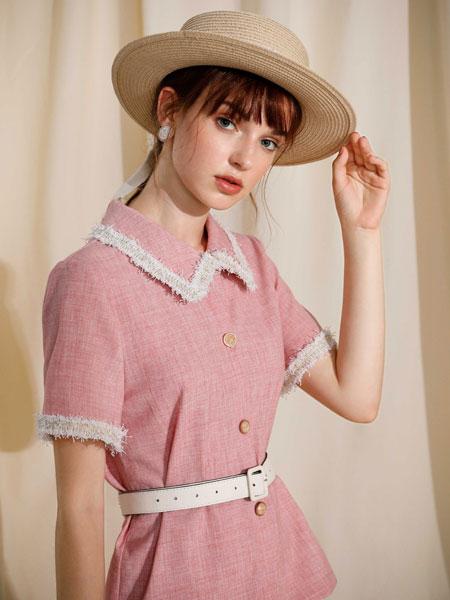 MOANLUO女装品牌2020春夏复古风裙子