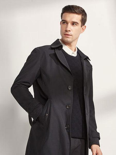 阿仕顿男装韩版休闲时尚翻领男风衣简约舒适男士上衣外套