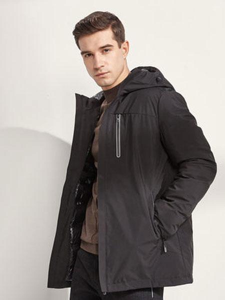 阿仕顿男装时尚修身翻领中长款风衣简约舒适男士大衣外套