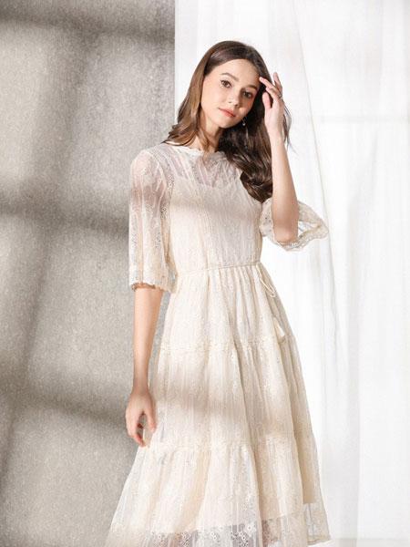 熙+女装品牌2019秋冬网纱裙子