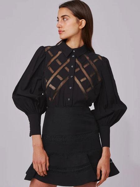 C/MEO COLLECTIVE国际品牌品牌2020春夏新款长袖蕾丝裙子