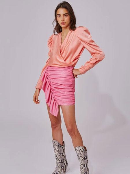C/MEO COLLECTIVE国际品牌品牌2020春夏新款粉红色短裙