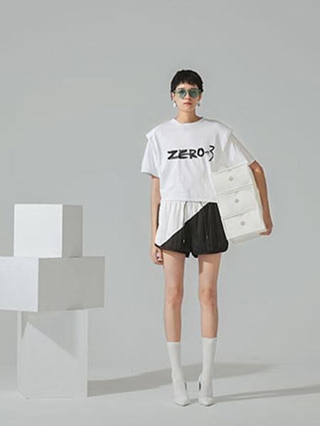 ZERO-3国际品牌品牌2020春夏新款白色印字短袖上衣
