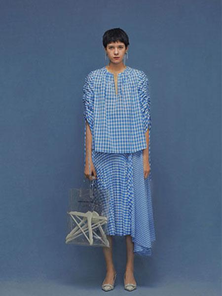 ZERO-3国际品牌品牌2020春夏新款格子连衣裙