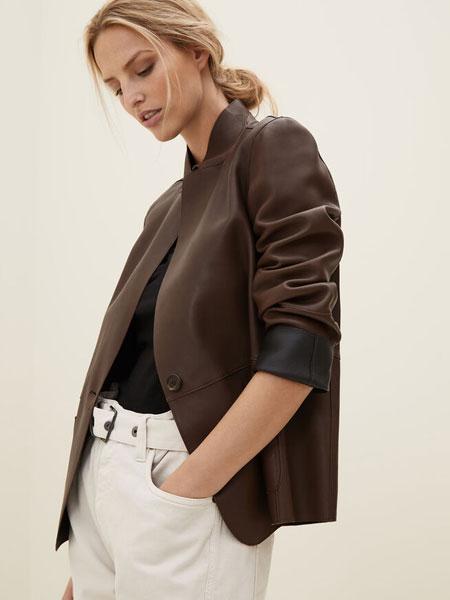 Brunello Cucinelli布鲁奈罗·库奇内利国际品牌品牌2019秋冬纳帕皮夹克