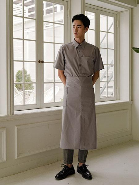 A.MONT国际品牌品牌2019秋冬新款纯色围裙