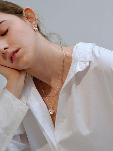 A.NEUJAC国际品牌品牌2019秋冬半圆形网状加工纯银双层项链_银色