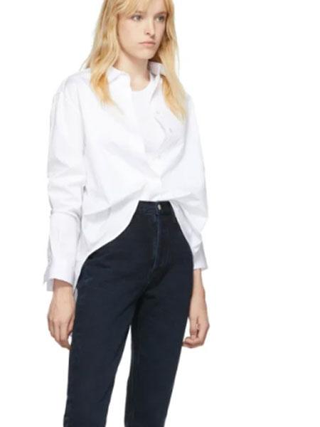AGOLDE国际品牌品牌2020春夏蓝色 Riley 高腰九分直筒牛仔裤