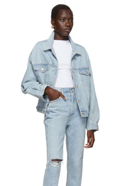 AGOLDE国际品牌品牌2020春夏蓝色 Charli 牛仔夹克