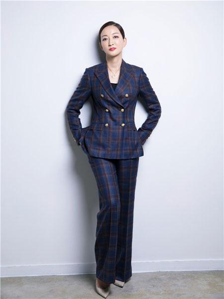 C'est moi服装定制品牌2019秋冬新款纯色条纹西装套装