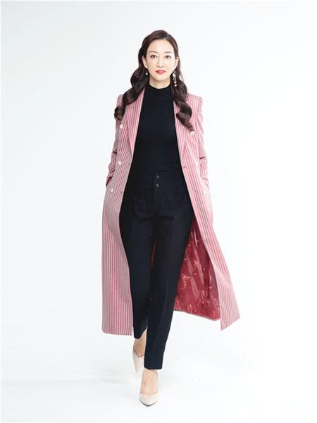 C'est moi服装定制品牌2019秋冬新款粉色毛绒大衣