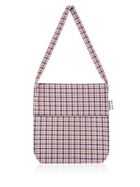 ALICE MARTHA国际品牌2019秋冬新款格子小包