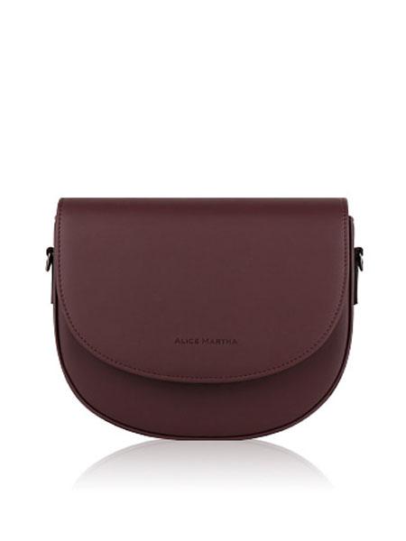 ALICE MARTHA国际品牌品牌2019秋冬新款酒红色腕包