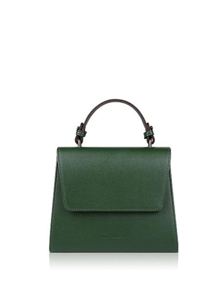 ALICE MARTHA国际品牌品牌2019秋冬新款墨绿色手提包