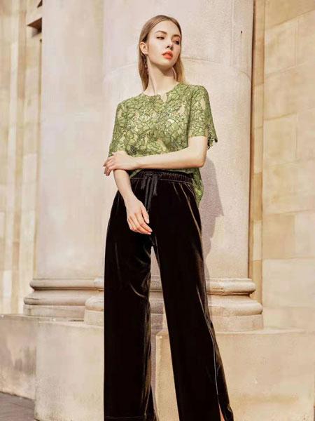 欧点女装品牌2020春夏新款短袖蕾丝上衣