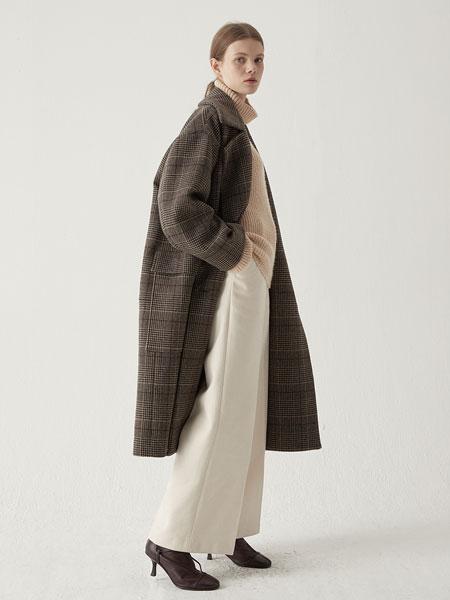 BEMUSEMANSION国际品牌2019秋冬超合身口袋外套-格子