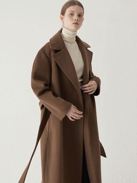 BEMUSEMANSION国际品牌2019秋冬超合身的口袋外套-棕色