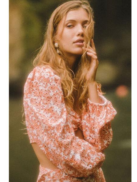 Bardot国际品牌品牌2020春夏新款印花连衣裙