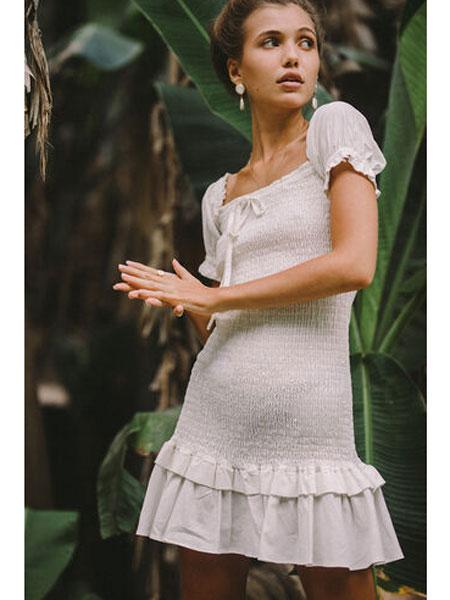 Bardot国际品牌品牌2020春夏新款蕾丝连衣裙