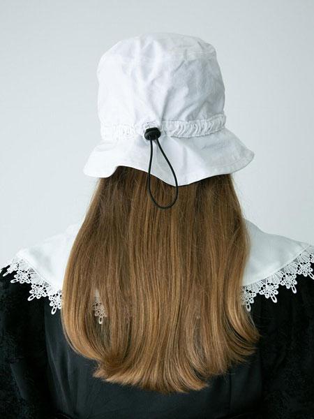 AWESOME NEEDS国际品牌品牌2020春夏简约迷你男女同款抽绳渔夫帽_白色
