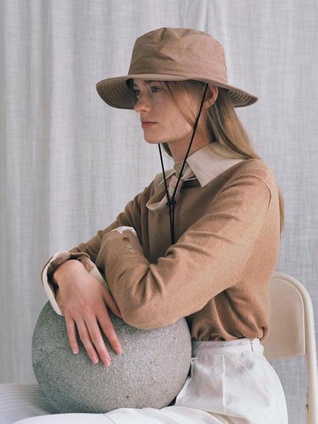 AWESOME NEEDS国际品牌品牌2020春夏简约迷你男女同款抽绳礼帽_褐色