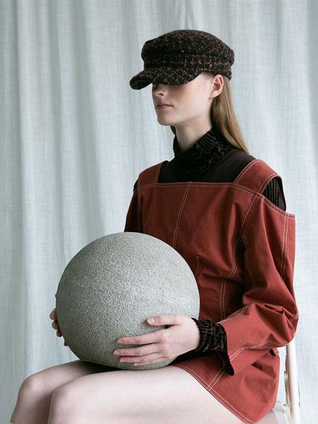 AWESOME NEEDS国际品牌品牌2020春夏经典帅气毛圈男女同款海军帽_棕色